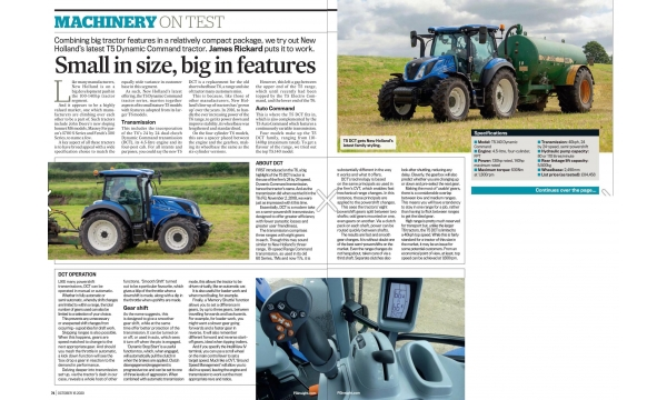 New Holland T5 review from Farmers guardian